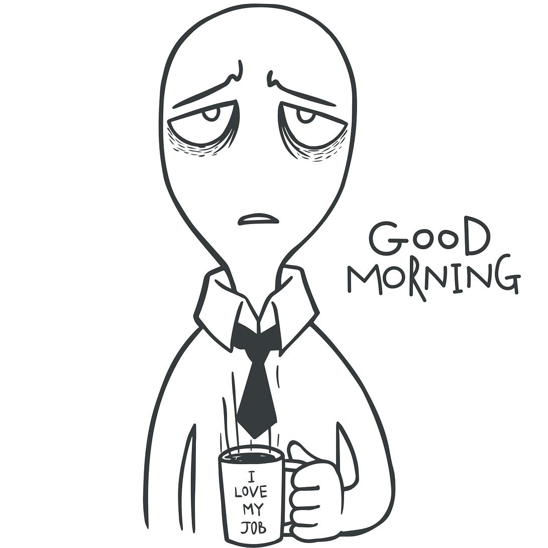 Die typische Spezies Morgenmuffel